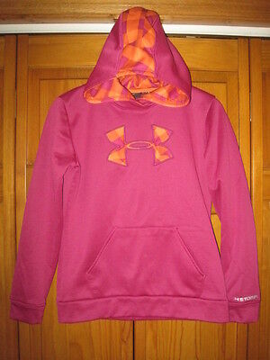 Under Armour Storm Cold Gear hoodie sweatshirt girls YLG L pink soccer track