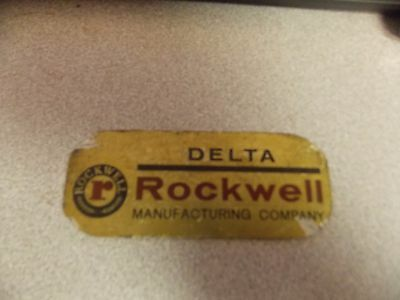 ROCKWELL Drill Press  sign