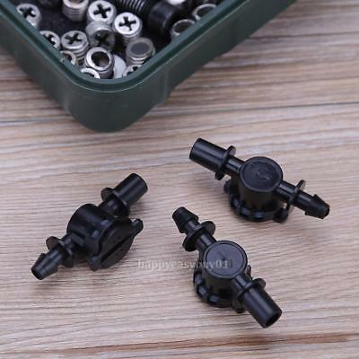 20pcs Micro Irrigation Drippers Sprinklers Stop ON/OFF Valve Drip-proof Switch