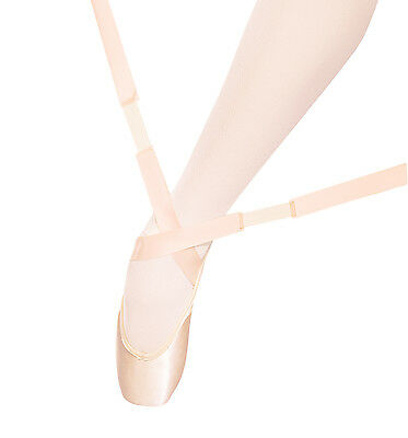 Capezio Bunheads Flexers Tendonitis Ribbons, Light Professional Pink, NEW
