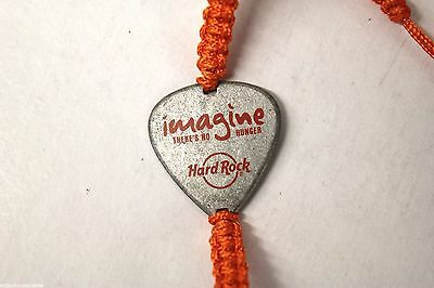 HARD ROCK CAFE : Lennon - Imagine There's No Hunger WHY Charity Bracelet  ORANGE