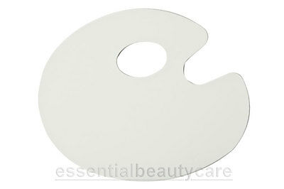 oval plastic make-up mixing pallete palette with thumb hole for makeup artists