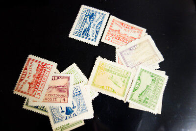 Poland 1918 Stamps 17 Locals Mint Various Towns VF