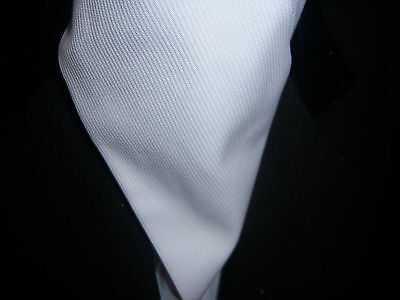 white ribbed cotton hunting self tie stock
