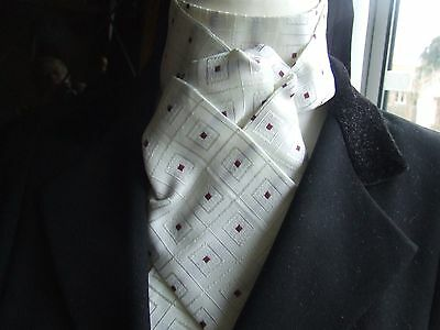Beautiful Ivory brocade self tie stock
