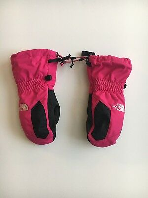 Girls North Face Pink Mittens Size Small