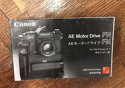 Canon AE motor drive FN  manual in English and Japanese