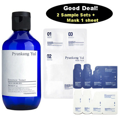 [ Pyunkang Yul ] Essence Toner 200ml / 3 Step Mask Pack 1 Sheet / Samples