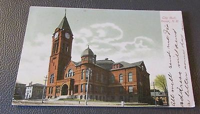 Old Postcard<<DOVER, NEW HAMPSHIRE>>{CITY HALL---1906}