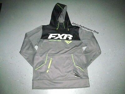 FXR Men's Blk Gry & Hi Vis Pursuit Pullover Hoodie L XL 2X 181102-0610-13