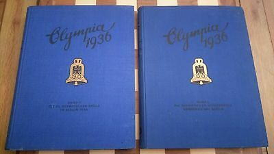 Olympia 1936 OLYMPIC CIGARETTE CARD 2 VOLUME Cigaretten Bilderdienst Band 1 & 2