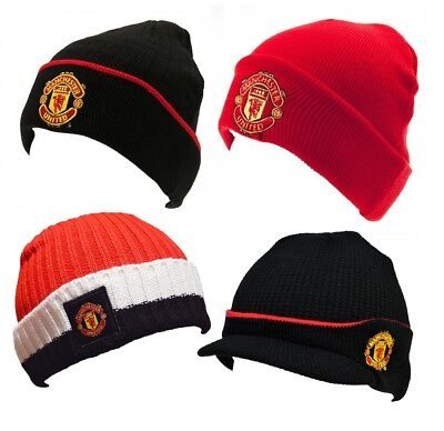 deb26b3008f Manchester United FC Official Hat Selection Beanie Bronx Black Red Adult    Kids