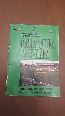 Official programme Spain vs. Romania 1986