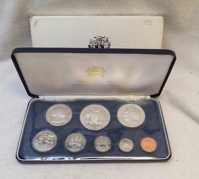1974 Jamaica 8 Coin Proof Set .925 Silver $10 and $5 Coin-Franklin Mint