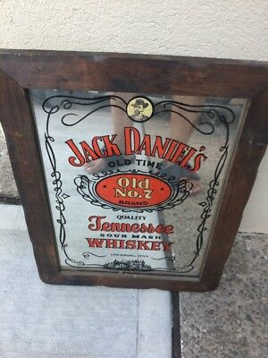 Vintage JACK DANIELS TENNESSEE WHISKEY OLD  NO 7 MIRROR WALL SIGN
