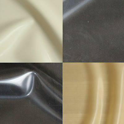 0.50mm Gauge Sheet Latex/Rubber by Continuous Metre, 1m Width: Black White Trans