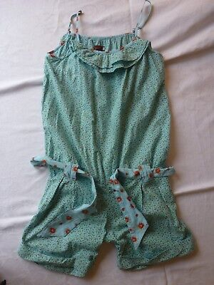 Catimini Girls Mint Green Jump Suit Shorts Size 12 Years