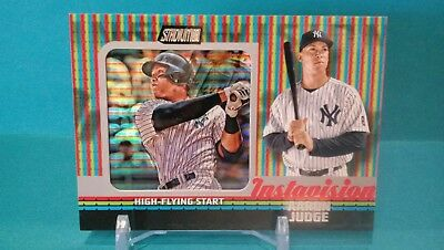 AARON JUDGE 2017 Topps Stadium Baseball Instavision Rookie Card RC SP 1-PER CASE