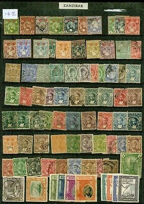 Zanzibar  - Collection Of 200 Different Stamps.