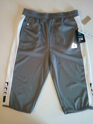 NWT RBX Unisex Large 14-16 Gray & White 100% Polyester Performance Shorts X-Dri