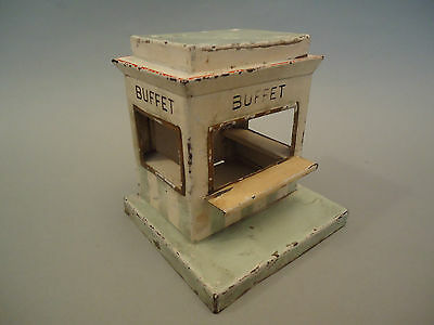 Antique German Kibri Railway Platform Out House - BUFFET Tin Toy 1920/30s