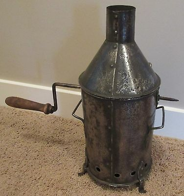 Very Rare Early All Metal Antique French Coffee Roaster