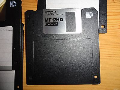 """3.5"""" 1.44MB formatted HD floppy disks  Full format checked. New with lable TDK"""