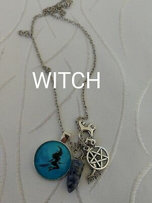 00039 WITCH Sodalite Infused Pendulum Necklace Doreen Virtue Certified Australia