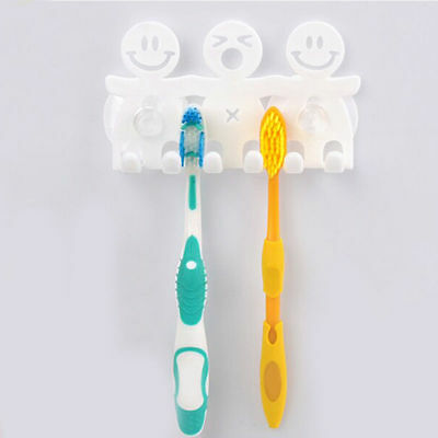 Toothpaste Toothbrush Holder Wall Mount Hanger Home Bathroom Suction Grip FCC