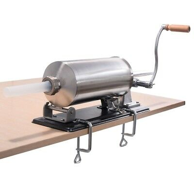4.8L Sausage Stuffer Maker Meat Filler Machine Stainless Steel Commercial
