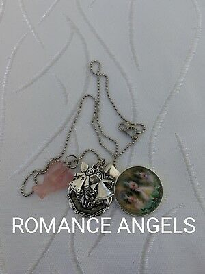 00041 ROMANCE ANGELS Infused Angel Necklace Doreen Virtue Certified Australian