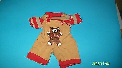 CABBAGE PATCH KIDS    DOLL CLOTHES, coleco TEDDY BEAR OUTFIT