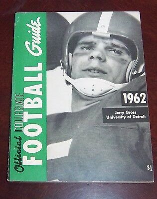 Official Collegiate Football Guide NCAA 1962 Jerry Gross University of Detroit