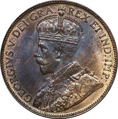 1920 Canada Large Cent, GEM Uncirculated, Red / Brown