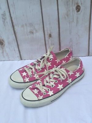 * Converse All Star Unisex Pink Star Sneakers Size 6 Mens 8 Womens Shoes