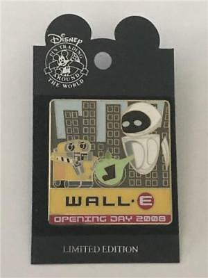 2008 Wod Nyc Wall-E & Eve Plant Opening Day Le 1000 Disney/pixar Pin 63346 Rare