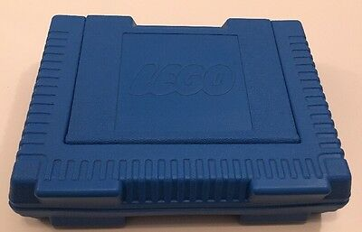 Vintage LEGO Blue Carrying Storage Case Plastic Portable Grey Latch