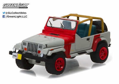 1:64 Hobby Exclusive 1993 Jeep Wrangler YJ LIMITED (Red and Grey) by Greenlight