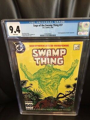 Saga of the Swamp Thing #37 - First appearance of John Constantine - 9.4!