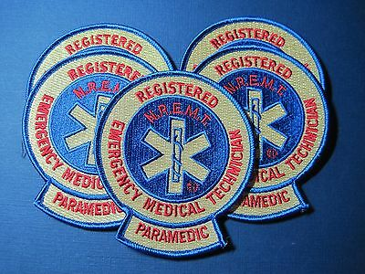 Nremt Paramedic Patch Retired Five Pack Old School Version Look!* Five Pack