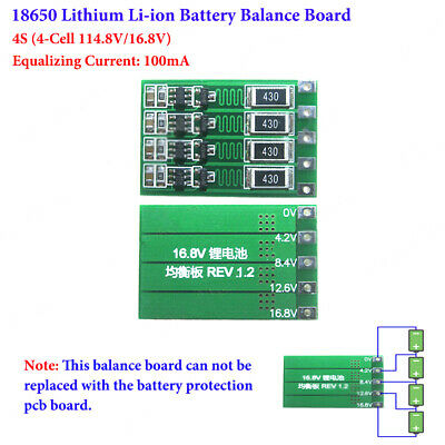4S 4 Cell 14.8V 16.8V 18650 Li-ion Lithium Battery Charger Module Balance Board