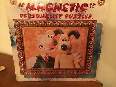 wallace and gromit  Magnetic Personality Puzzle . New in packaging. Rare