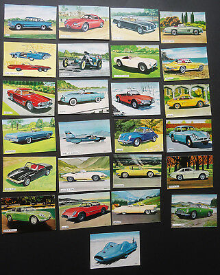 WORLD OF FAST CARS ~ 1964 set of 25 Racing Car Collectable Trading cards