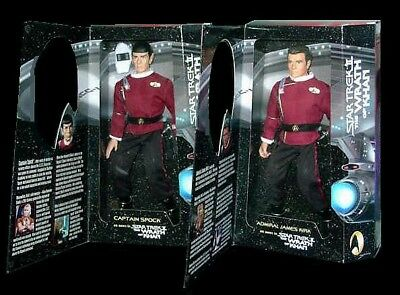 STAR TREK THE WRATH OF KHAN Admiral Kirk and Capt. Spock Playmates Figure set