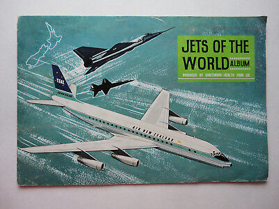 JETS OF THE WORLD - complete album of 20 swap cards 1965 - New Zealand