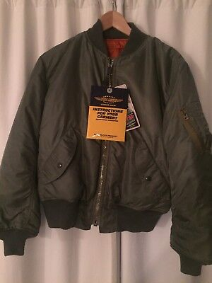 "Toys McCoy Steve McQueen ""The Hunter"" Flight Jacket - Legend Collection - Sz. MD"