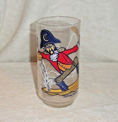 Vintage 1977 Mcdonalds Captain Crook Mcdonaldland Action Series Glass