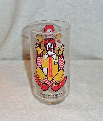 Vintage Mcdonalds Ronald Mcdonald Collectors Series Glass