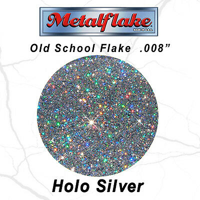 NEW METAL FLAKE AUTO HOLO SILVER GLITTER (0.008) CUSTOM PAINT FLAKES 60GRAM 2oz