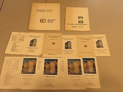 Pontiac Michigan MI Pontiac State Bank Building Annual Report Literature